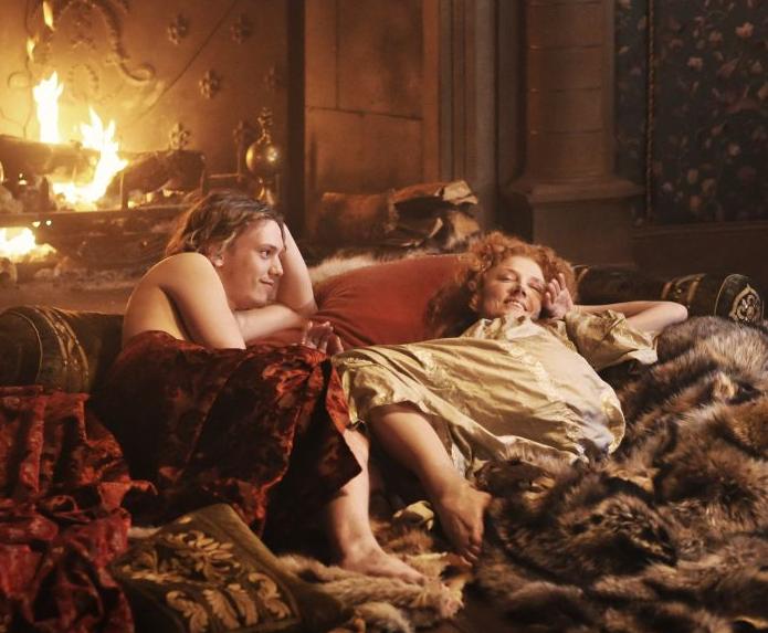 Edward de Vere e Elizabeth ainda jovens